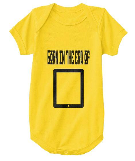 """Born in the era of smartphones"" Onesie || Retro Inspired Baby Bodysuit || Click Image to Purchase"