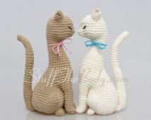Princesa gato Amigurumi patrón, realista gato ganchillo patrón, patrón de la decoración del hogar, del ganchillo eco arte, escultura, juguete, decoración de la boda