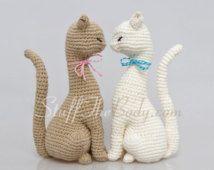 Кот Принцесса Amigurumi шаблон, шаблон Реалистичная вязание крючком Кот, домашний декор картины, скульптуры крючком, экологически искусство, украшение свадьбы, игрушки