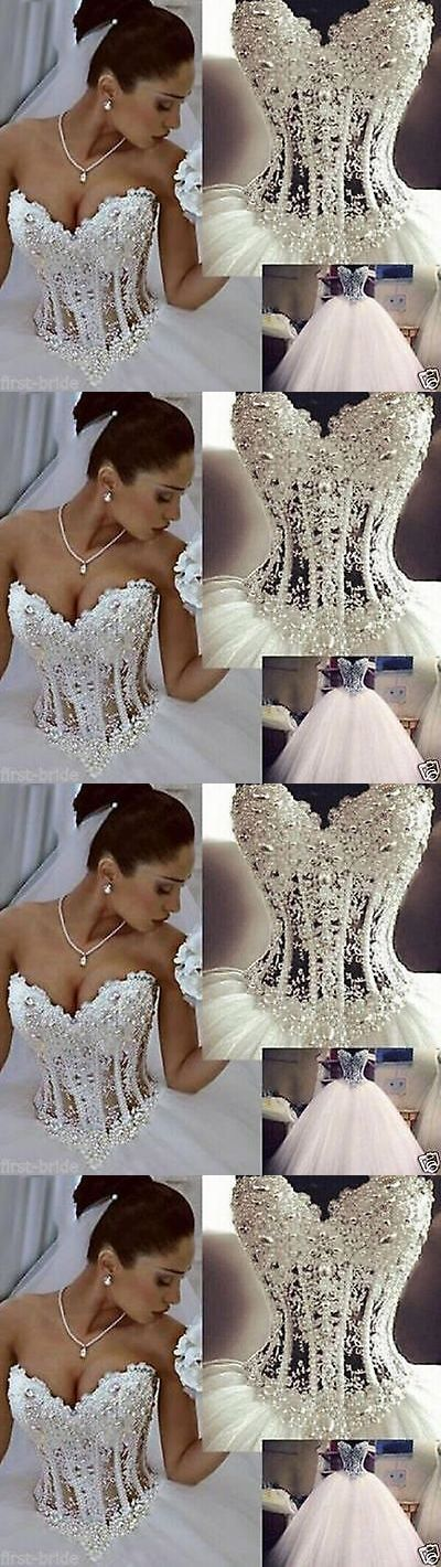 Wedding Dresses: New White/Ivory Bead Wedding Dress Bridal Gown Custom Size 6 8 10 12 14 16 18 -> BUY IT NOW ONLY: $78 on eBay!
