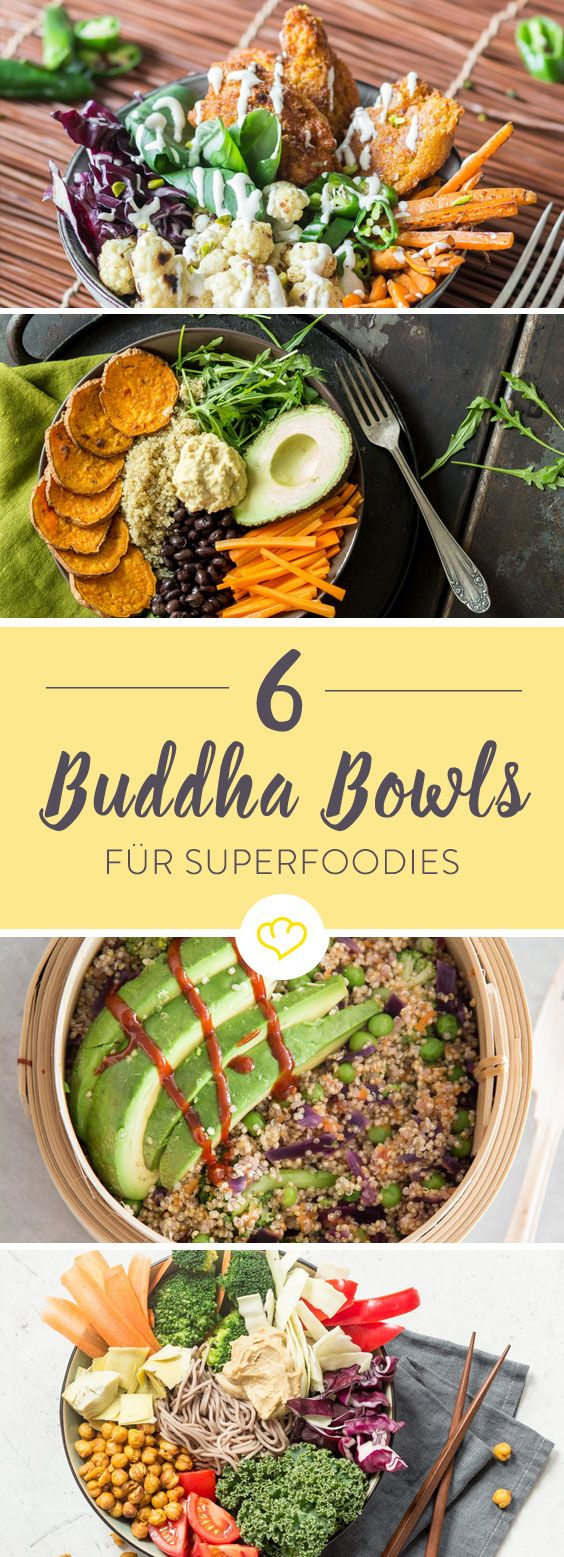 Buddha Bowls sind gesund, leicht abzuwandeln und sehen einfach toll aus. Und der Geschmack? Der kommt auch nicht zu kurz, wie diese 6 Buddha Bowls beweisen.