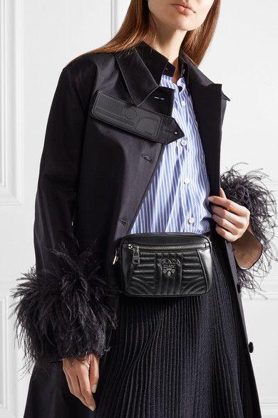 034fbac7fc Prada - Quilted Leather Belt Bag - Black