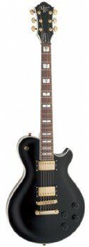 Michael Kelly Patriot Vintage Electric Guitar Black. CONSTRUCTION: Set-neck. BODY: Mahogany. NECK: Mahogany. FRETBOARD: Rosewood. FRETS: 22 jumbo.