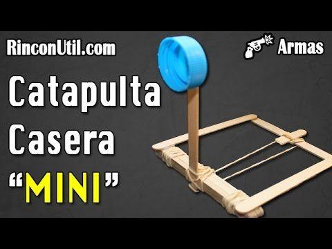 Mini catapulta casera   Armas caseras - YouTube