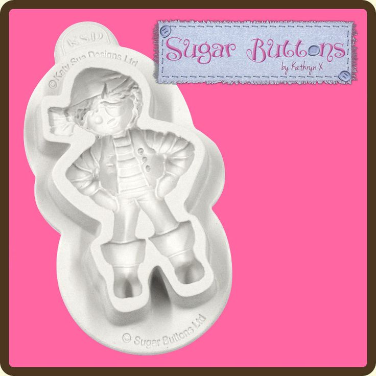 Katy Sue Sugar Buttons Pirate Mould