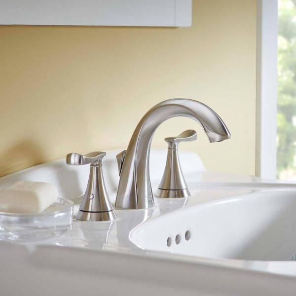 American Standard Chatfield 8 In Widespread 2 Handle Bathroom Faucet In Brushed Nickel 741 In 2020 Bathroom Faucets Widespread Bathroom Faucet Bathroom Faucets Chrome