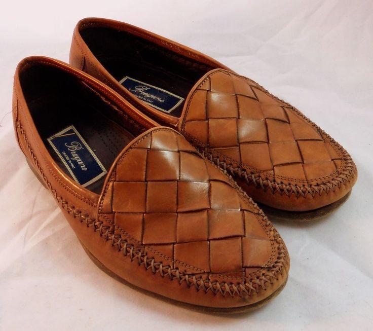 bragano italian men 39 s shoes brown tan woven leather. Black Bedroom Furniture Sets. Home Design Ideas