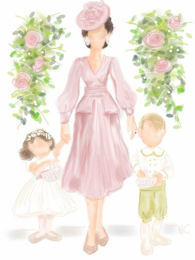 Duchess Catherine with her little Princess Charlotte & Prince George!
