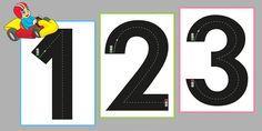 Chiffres Piste graphique Autoroute Pré-écriture Maternelle - Découvrir les chiffres de 0 à 9, développer la motricité manuelle et apprendre le sens de l'écriture