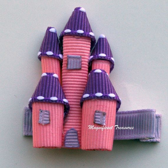 Princess Castle Ribbon Sculpture Hair Clip  FREE by Magnificence, $5.00