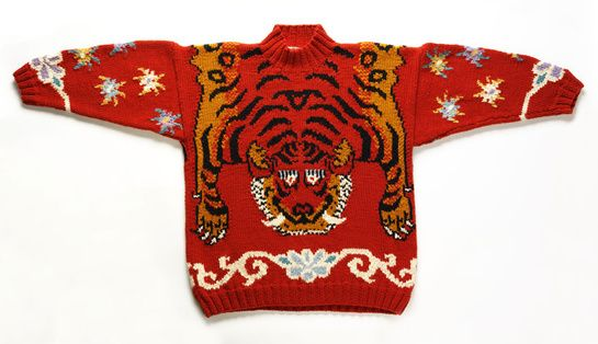 Joseph Ettedgui wool 'Tiger' man's jumper 1985 Given by Martin Kamer Museum no. T.90-2009 © Victoria and Albert Museum, London