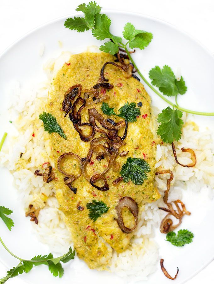 Thai Steamed Fish in Coconut Sauce • a delicious healthy meal in 35 minutes • Panning The Globe