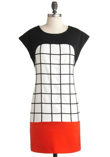 Graph It Up DressDesign Inspiration, Fashion, Clothing, Graph Dresses, Retro Vintage Dresses, Black White, Geometric Dresses, Vintage Inspiration, Red Black