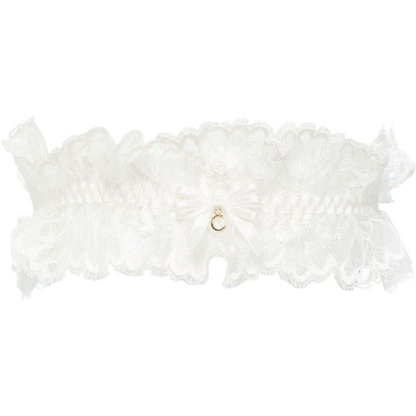 Chantelle Opera Garter ($33) ❤ liked on Polyvore featuring intimates, garter, lingerie, accessories, undies, wedding, white, women, white wedding lingerie and white lingerie