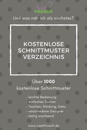 Das kostenlose Schnittmuster und Freebook Verzeichnis: Nähen mit über 1.500 Nähanleitungen – Roswita Ziegler