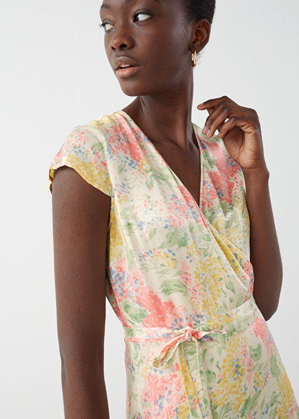 Elory Dress-Drawstring Waist Wrap Dress