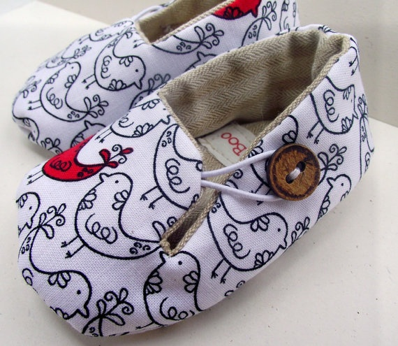 BUSTER BOO - fabric baby shoes