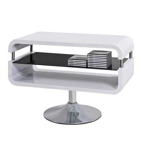 TV-Rack Cubixx - Hochglanz Weiß/Glas Schwarz von Fredriks