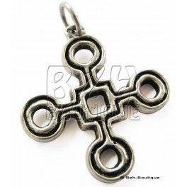 ref: 01122 - Pendentif croix pattée aux ronds Toulhoat
