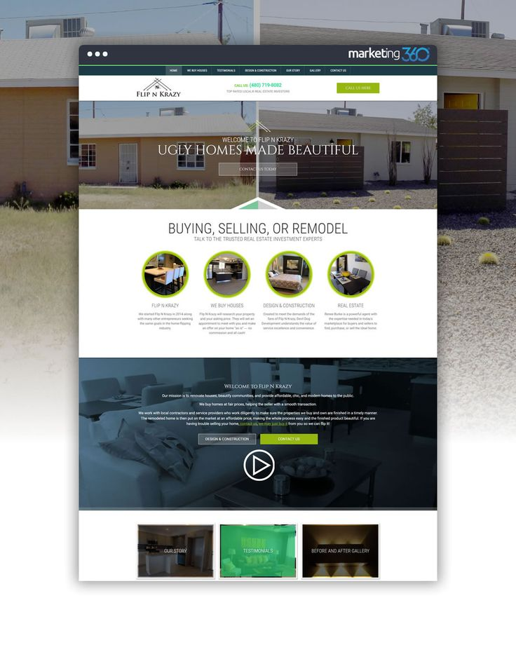 Real estate website design of the day by Real Estate Marketing 360® - handcrafted by Garrett Christensen, Sarah Shelton, Eric Ulibarri, Kara English and Kaley Goldrich!