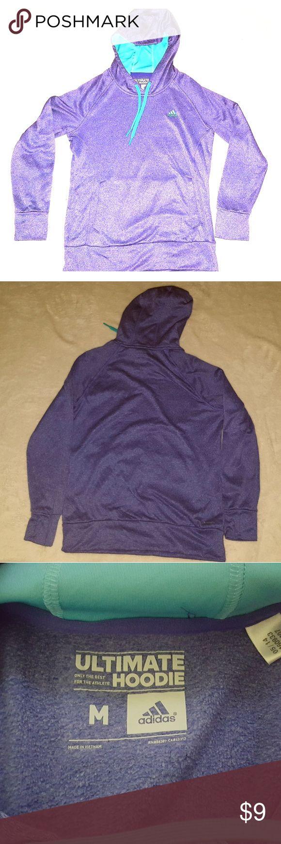 ADIDAS ultimate hoodie. Women's ultimate hoodie climawarm. Gently used. Purple and turquoise. Adidas Tops Sweatshirts & Hoodies