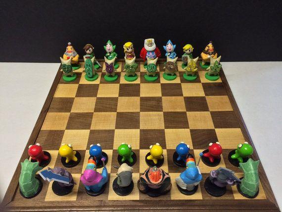 Legend Of Zelda Windwaker Inspired Chess Set