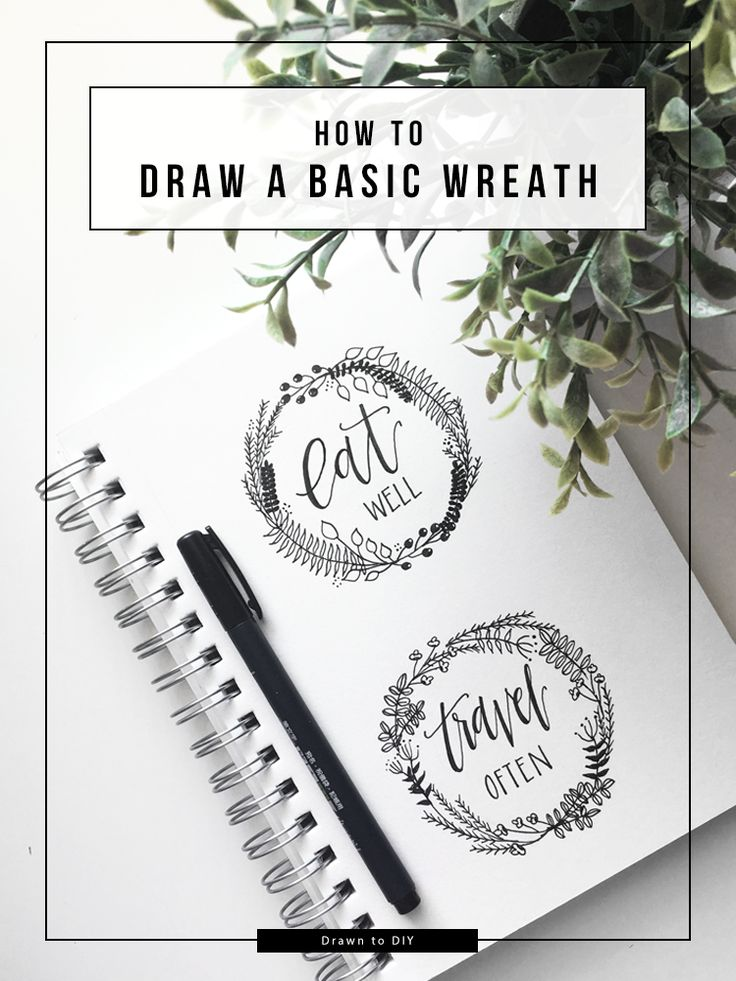 How to Draw a Wreath @DrawntoDIY