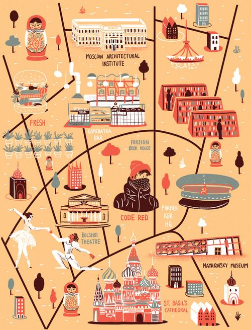 Daniel Gray - Map of Moscow for Computer Arts Magazine