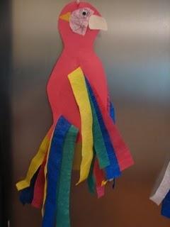 Parrot craft rainforest project