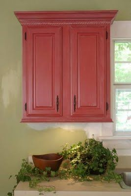 How to make builder grade oak cabinets look custom. Beadboard and a little extra molding make such a difference.