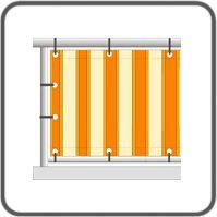 Balkonbespannung: Wind- und Sichtschutz kaufen   SUNDISCOUNT