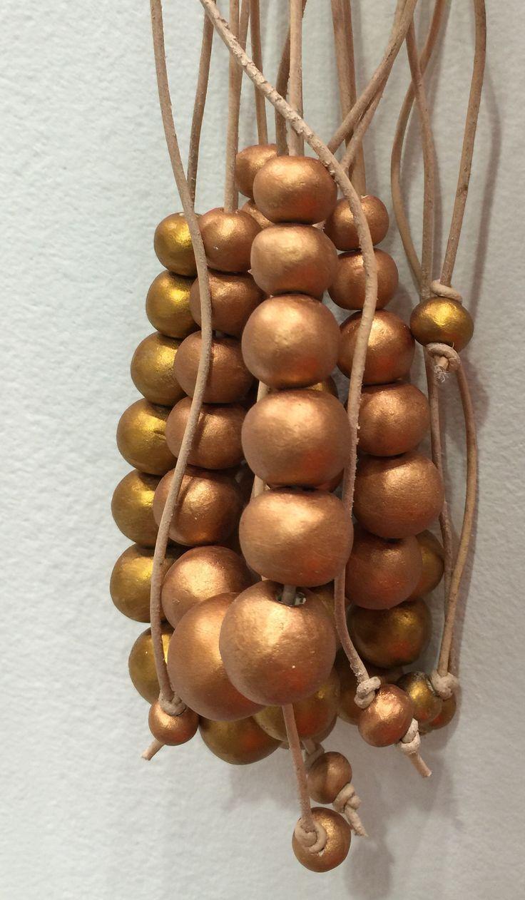 Copper and bronze ceramic bead jewelry www.hellooow.co.za