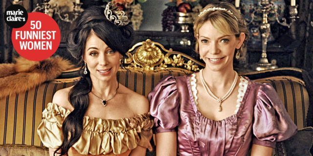 'Another Period' Stars Natasha Leggero and Riki Lindhome Are Rewriting History—by Being Trainwrecks  - MarieClaire.com