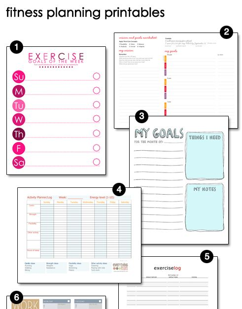 FREE Fitness Planning Printables!