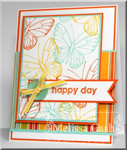 Oh Happy Day! Stamps:  KJ Butterfly @Gourmet Rubber Stamps  Adhesives:  @Tombow USA
