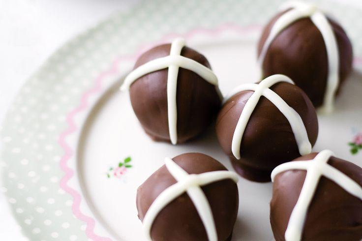 Hot Cross Chocolate Truffles