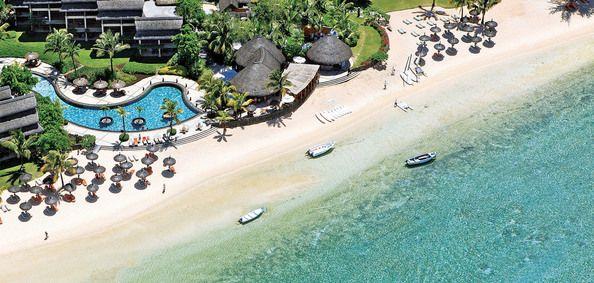 Heritage Awali Golf & Spa resort set fra luften