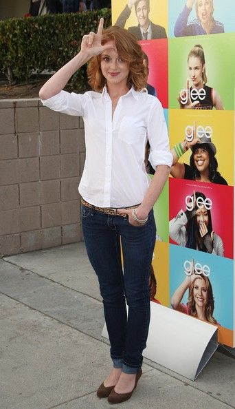 Jayma Mays - Glee Screening I LOVE HER SHE'S SOOO CUTE!!!!!!!!