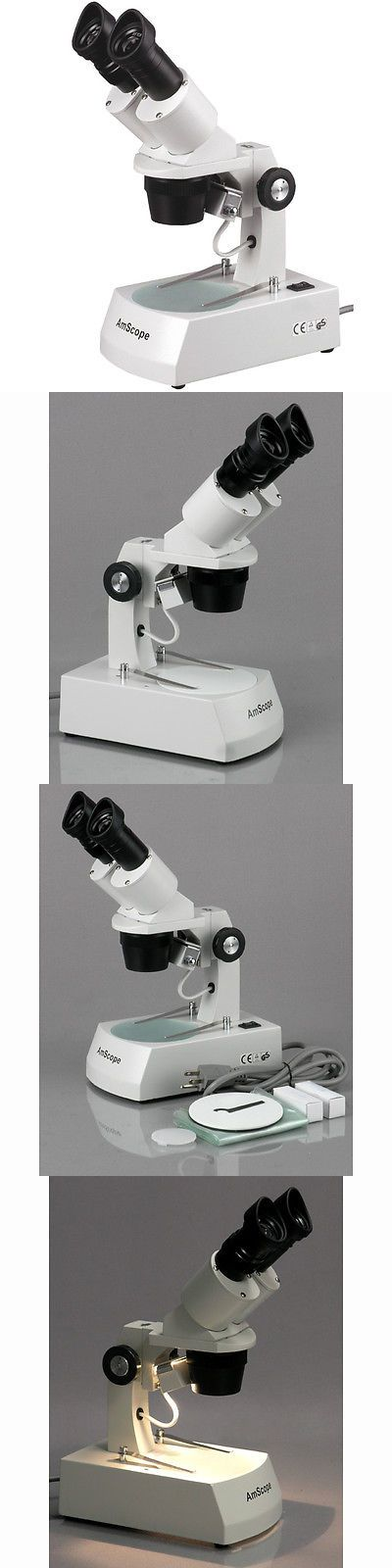 Microscopes and Chemistry 2568: Amscope 10X-20X-30X-60X Binocular Stereo Microscope With Top And Bottom Lights -> BUY IT NOW ONLY: $136.22 on eBay!