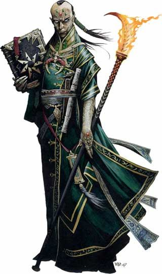 The wizard Awlryne is an arcane scholar afflicted with dragonscale, a disease which cannot be cured through magic nor medicine.