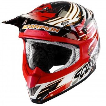 Casque Cross Scorpion VX-20 Air Startrooper Noir Blanc Rouge http://www.icasque.com/Casque-moto/Cross/VX-20-Air-Startrooper-Noir-Blanc-Rouge/