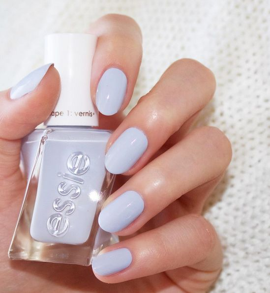 Periwinkle blue. Perfect posture by Essie