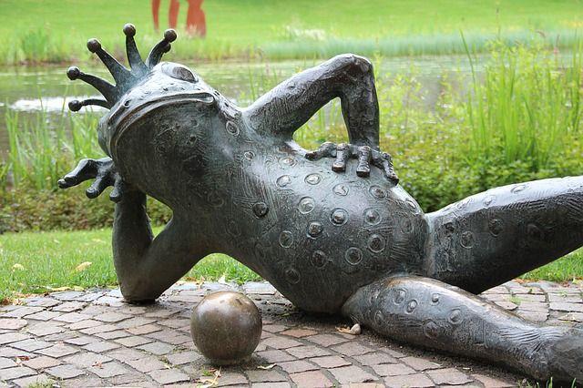 Sculptuur, Kunst, Artwork, Mythische Wezens, Kikker