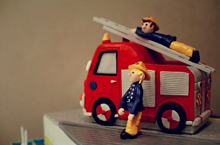 fireman cake at our party