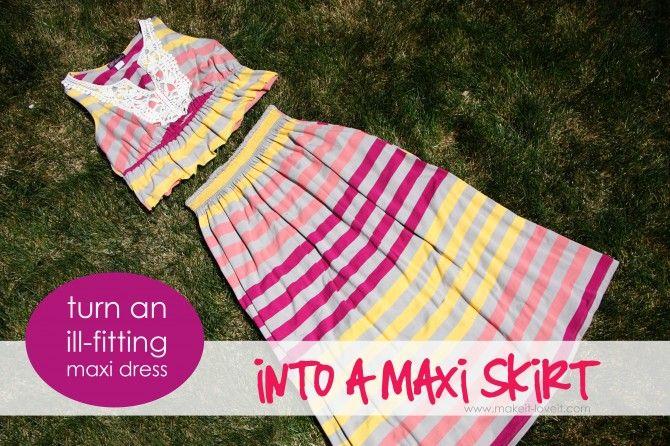 shirred waist maxi skirt: Maxi Skirts Tutorials, Maxi Skirts To Sewing, Diy Maxi Skirts, Maxi Dresses, Dresses Shorts To Skirts, Diy Skirts, Great Ideas, Dresses Prom, Sewing Crafty