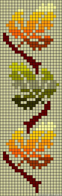 Autumn leaves perler bead pattern