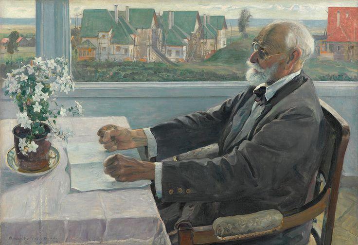 МИХАИЛ НЕСТЕРОВ. Портрет И.П.Павлова. 1935. Холст, масло. 83x121.