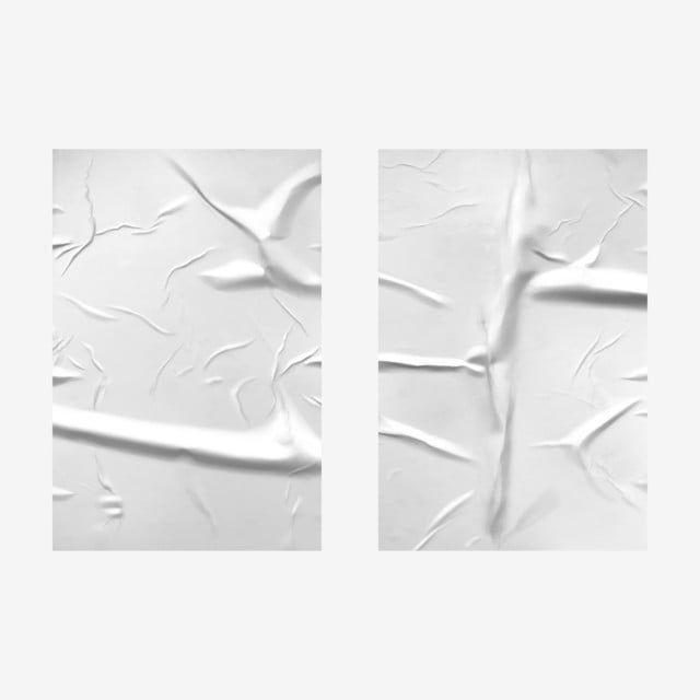Gambar Kertas Putih Teruk Putih Dengan Tekstur Lipatan Keriput Poster Kertas Terpaku Png Dan Vektor Untuk Muat Turun Percuma Poster Kertas Ilustrasi