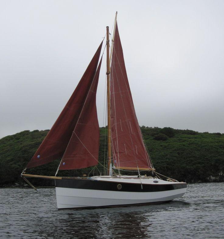 Capehenry 21 by roe boats trailer sailors pinterest for 68 garden design gaff rigged schooner