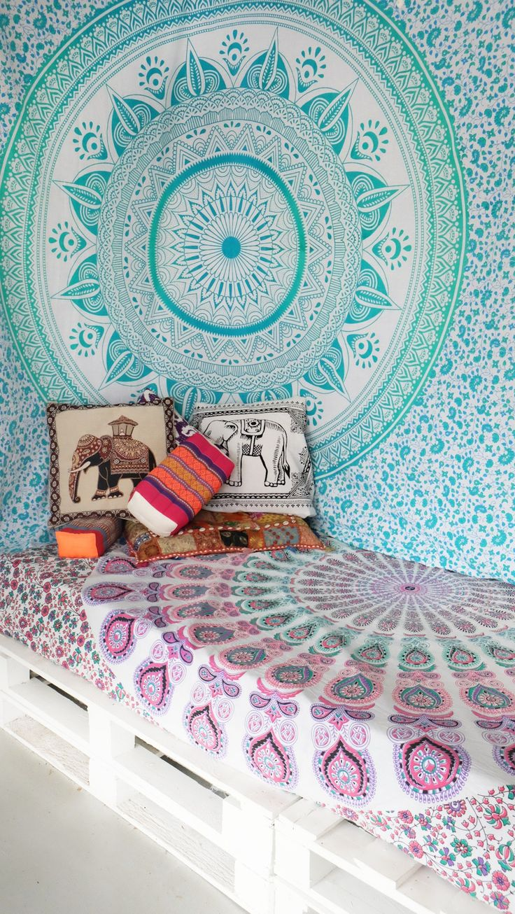 17 meilleures images propos de tissu mural mandala sur for Mural mandala